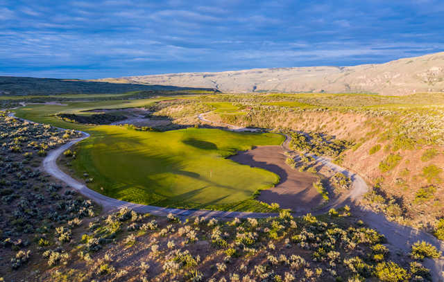 Looking back from the 6th green at Gamble Sands Golf Club.
