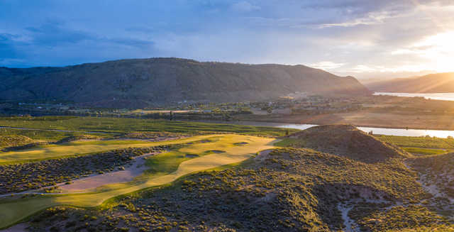 View of the 8th green at Gamble Sands Golf Club.
