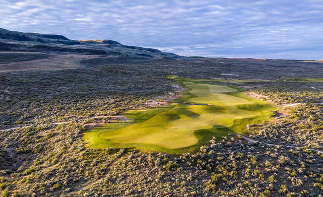 Looking back from the 13th green at Gamble Sands Golf Club.