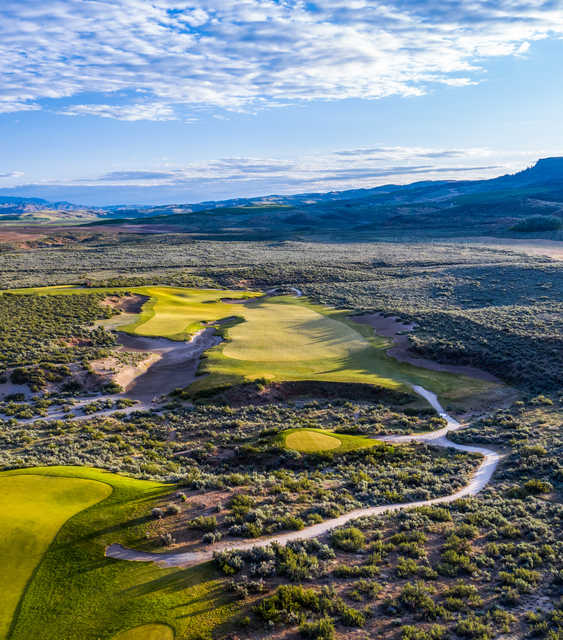 View of the 14th green at Gamble Sands Golf Club.