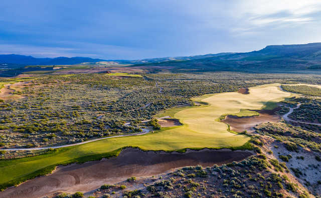 View of the 15th green at Gamble Sands Golf Club.