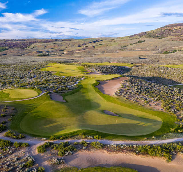 Looking back from the 16th green at Gamble Sands Golf Club.