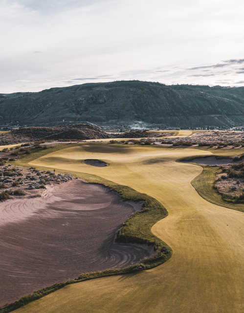 View from the 16th tee at Gamble Sands Golf Club.