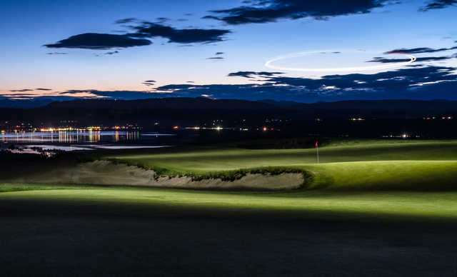 View of the 2nd green at Gamble Sands Golf Club.