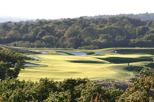 A view of the 3rd green from Milton Nine at Granite Links Golf Club At Quarry Hills.