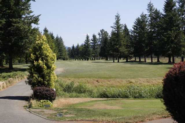 A view of a fairway at Mount Si Golf Course.