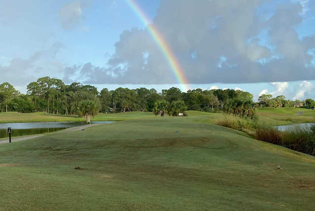 A view of the 6th tee at Pointe West Country Club.