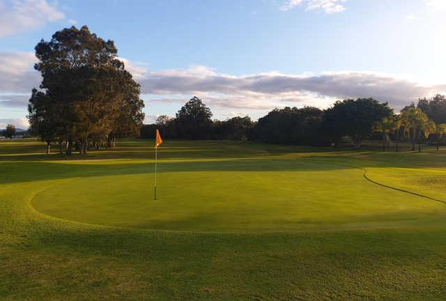 A view of a green at Nambucca Heads Island Golf Club.