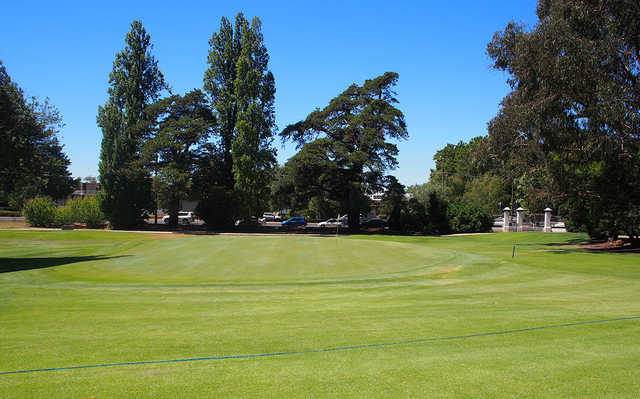 A view of a green at Duntryleague Golf Club.