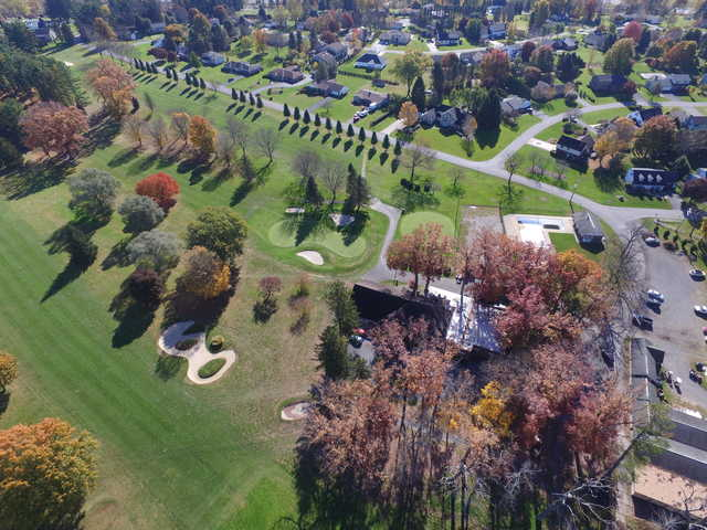 Aerial view from Clearfield-Curwensville Country Club.