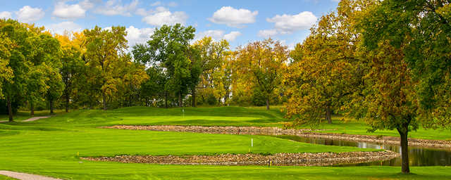 A view of hole #13 at Island View Golf Club.