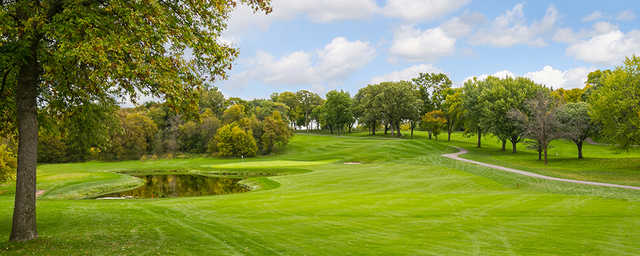 A view of the 14th hole at Island View Golf Club.