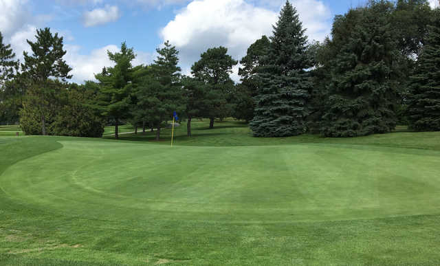 A view of a green at Greenhaven Country Club.