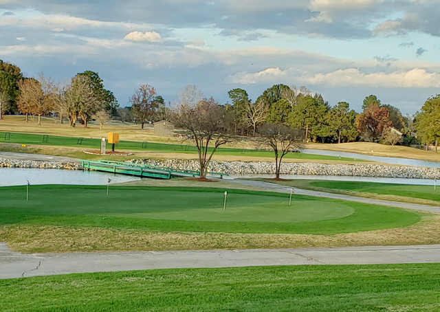 A view of the practice area at Belle Terre Country Club.