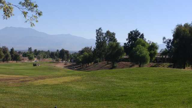 A view from a tee at Hemet Golf Club.
