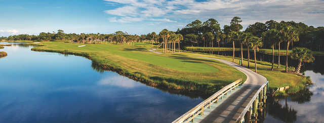 A view of a tee from Osprey Point at Kiawah Island Golf Resort.
