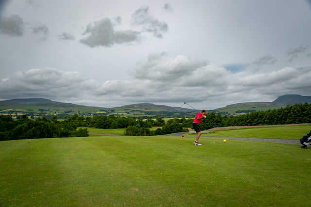 A view from Bentham Golf Club.