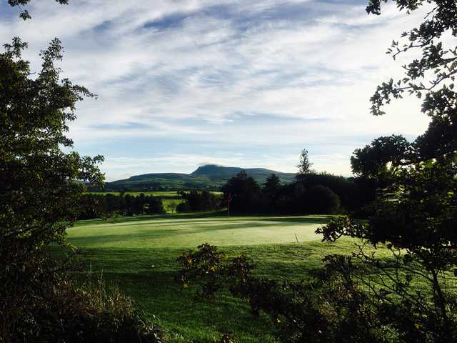 View of a green at Bentham Golf Club.
