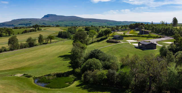 Aerial view from Bentham Golf Club.