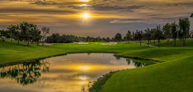 A sunset view from Shadow Hills Golf Club.