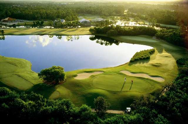 Aerial view from Eagle Creek Country Club.