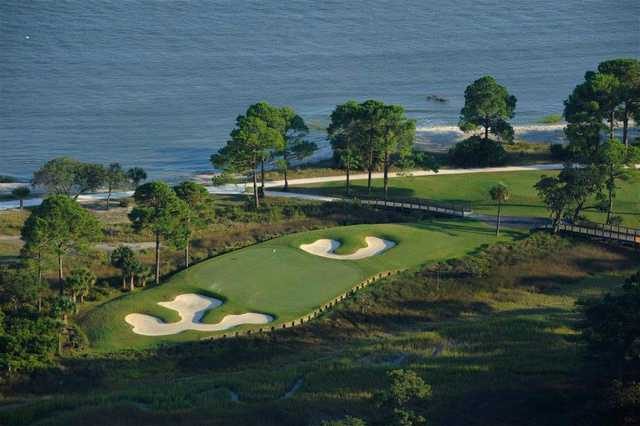 View of the 8th green at The Calibogue & The Haig at Haig Point Club.