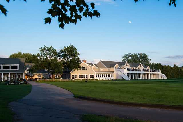 View of the clubhouse at Manchester Country Club.