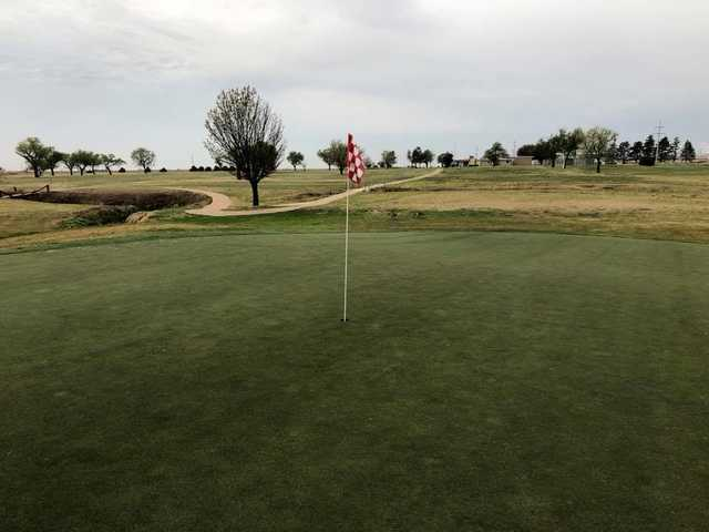 A view of hole #8 from The Greens of Altus Golf Course.