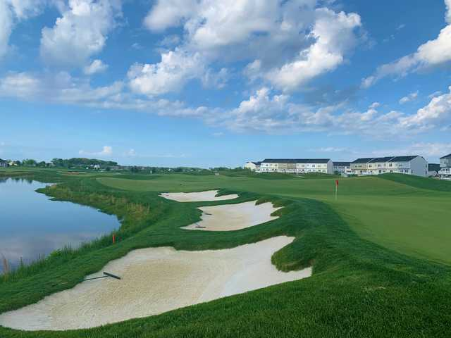 Looking back from 11th green at Plantation Lakes Golf and Country Club.