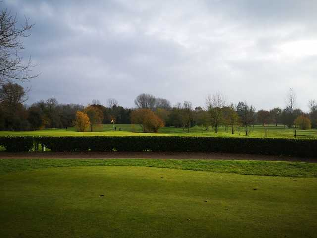 A fall day view from Kingfishers At Cretingham Country Park.