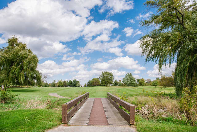 A view over a bridge at Elliot Golf Course.