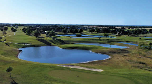 Alsatian Golf Club: Aerial view from behind 3rd green