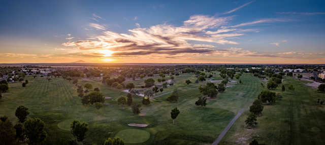 A sunset view from New Mexico Military Institute Golf Course.