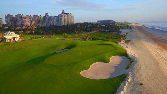View of the 9th hole from the The Ocean Course at Hammock Beach Resort