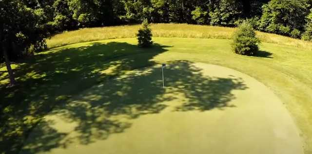 A view of a hole at Belk Park Golf Course.
