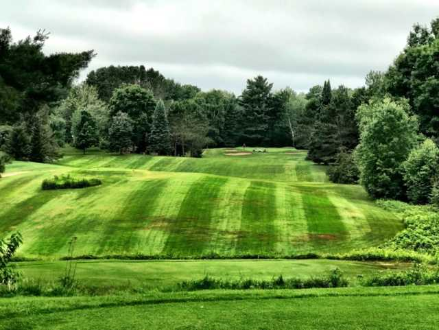 A view from a tee at Bass Lake Golf Course.
