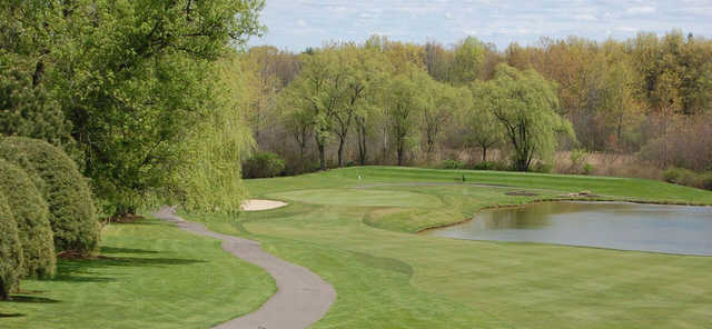 A view of a hole at Tumble Brook Country Club.
