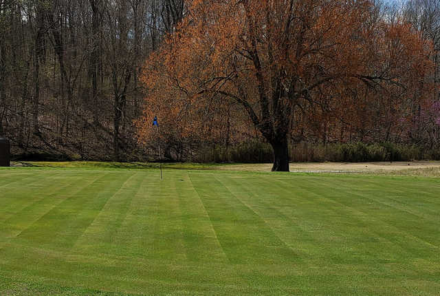 A view of a green at Pennyrile Forest State Park Resort.