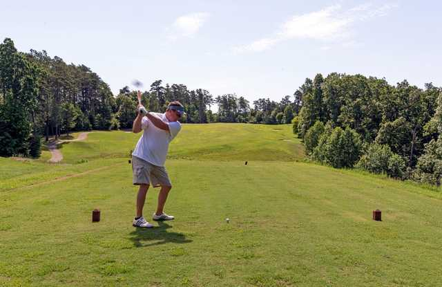 A view from a tee at Pennyrile Forest State Park Resort.