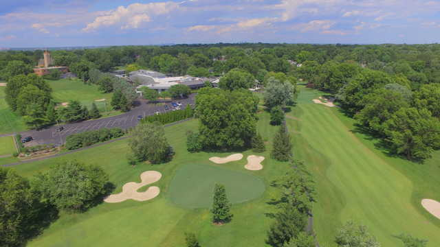 Aerial view from Westborough Country Club.