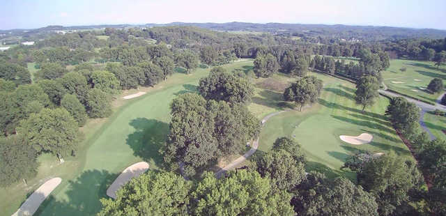 Aerial view from Westmoreland Country Club.
