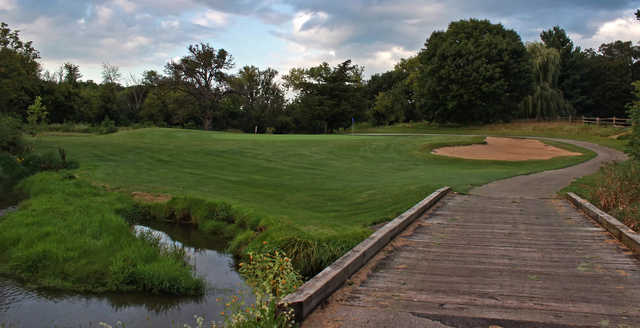 A view of hole #3 at Ledges Golf Club.