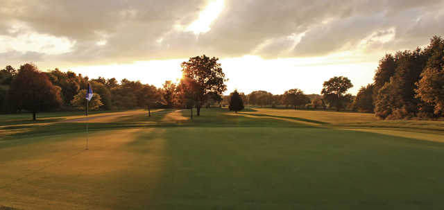 A view of hole #6 at Ledges Golf Club.