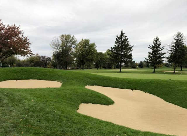 A view of hole #18 at Wedgewood Golf Course.