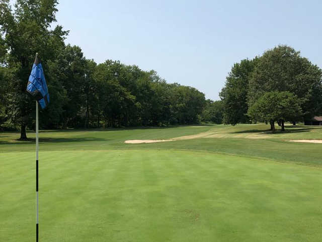 A view from green #1 at Boots Randolph Golf Course.