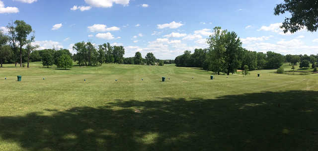 A view of the driving range at Lick Creek Golf Course.