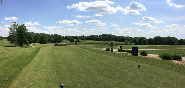 A view from a tee at Lick Creek Golf Course.