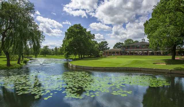 View of the 18th hole from the Championship Course at The Branston Golf & Country Club.