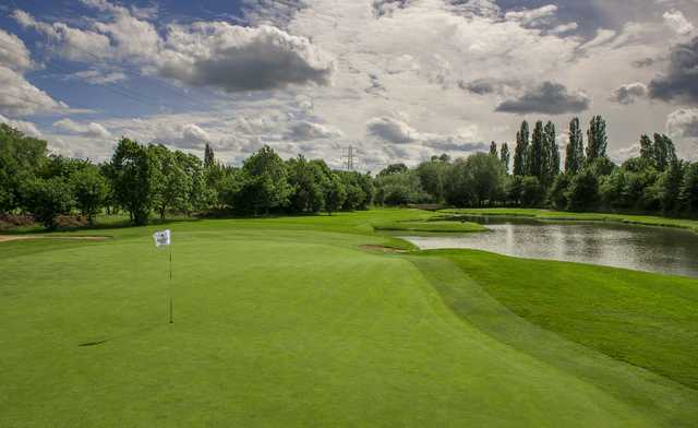 Looking back from the 3rd green at The Branston Golf & Country Club Championship Course.