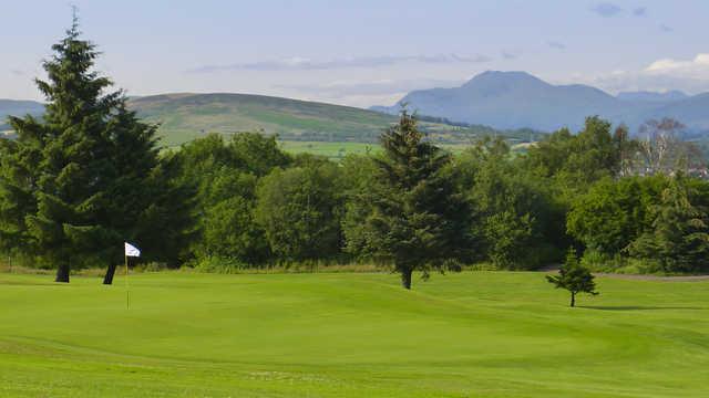 View of a green at Gleddoch Golf Club.